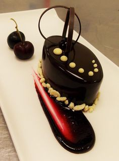Chocolate and black cherry cheesecake @ashornehill #ashornehill