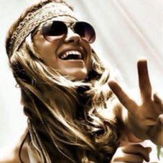 a headband, sunglasses, a peace sign, & a smile:-)