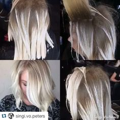 Icey Blonde Some @romeufelipe style freehand balayage. Using @pravana @guy_tang balayage ...