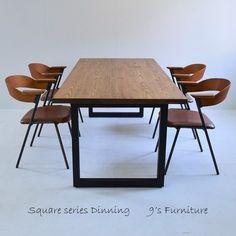 送料無料 ダイニングテーブル アイアン脚 DT-ir-square-150 - TRUNK