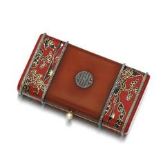 Enamel, amber and diamond vanity case, Lacloche Frères, 1920s   Sotheby's