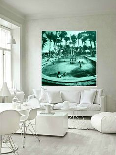 Swimming Pool print RETRO POOL Motel MCM