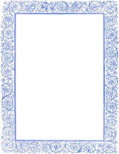 Victorian Floral Border Blue Clip Art Download - ClipArt Best - ClipArt Best