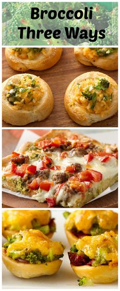 Green Giant Tuscan Broccoli can be used in so many different ways! Here we're featuring it in a savory crescent, on pizza, and a pastry cup. All from the Pillsbury Bake-Off® Contest!