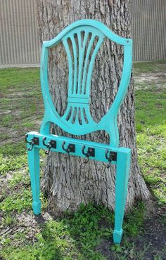 A good way to use an old chair...   Chair Back Coat Rack - Facelift Furniture