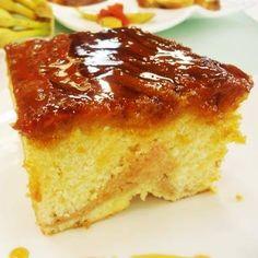 Perfeito para os fãs de doce! Aprenda com Edu Guedes o bolo de banana com goiabada: http://r7.com/E2W6 #HojeEmDia