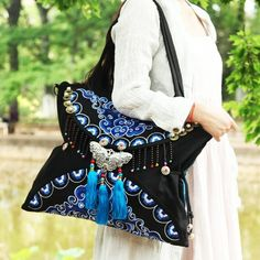 New arrival: Double Faced Boho... Buy it now: http://simplysonya731.net/products/double-faced-boho-hobo-hmong-ethnic-embroidery-shoppers-bag?utm_campaign=social_autopilot&utm_source=pin&utm_medium=pin
