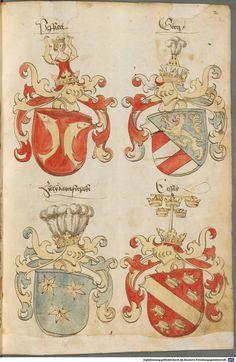 Tirol, Anton: Wappenbuch Süddeutschland, Ende 15. Jh. - 1540 Cod.icon. 310 Folio 2r