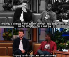 Justin Timberlake was the black guy in *NSync