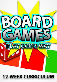 Board Games 12-Week Children's Ministry Curriculum http://www.childrens-ministry-deals.com/products/board-games-12-week-childrens-curriculum