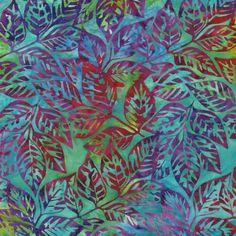 Grove 2 Batik Dogwood Leaves - Fiesta