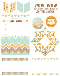 Pow Wow : free party printables