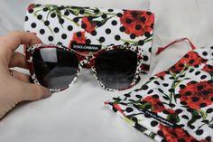Dolce & Gabbana Sonnenbrille Pünktchen & Blumen