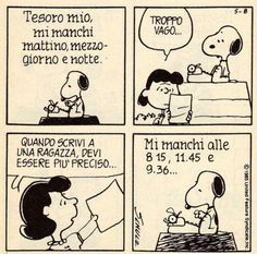 """'I miss you all the time"""" Snoopy Snoopy Love, Snoopy And Charlie, Snoopy Comics, Bd Comics, Peanuts Cartoon, Peanuts Gang, Lucy Van Pelt, Calvin And Hobbes, Cool Cartoons"""