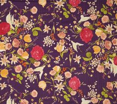 Fun print with purple and red. It's an asian inspired print.