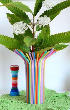 Linfa Creativa: Diy: decorare un barattolo con le cannucce