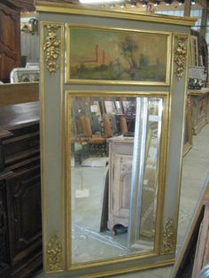 Antique French Trumeau Mirrors