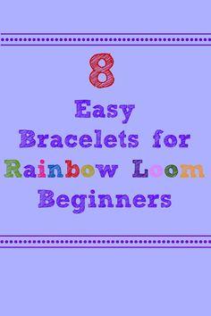 8 Easy Bracelets for Rainbow Loom Beginners @Michelle Willis Hooper