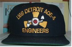 USS DETROIT AOE-4 ENGINEERS Custom made ball caps sell for  42.50 ea. fronts 5e56d9b088db