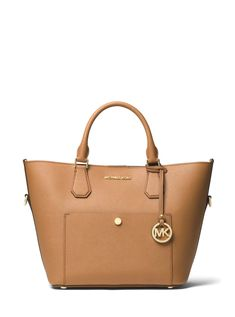 MICHAEL Michael Kors Leather Greenwich Large Grab Bag Acorn Brown     Check  out this 33177f2dbc119