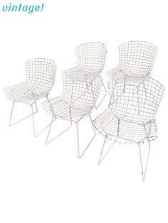 4 harry bertoia chair glides knoll eames bird diamond virco wire