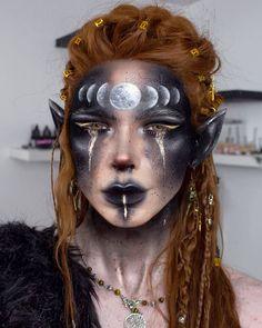 Sfx Makeup, Costume Makeup, Makeup Art, Makeup Inspo, Makeup Inspiration, Makeup Ideas, Viking Makeup, Tribal Face Paints, Fantasy Make Up