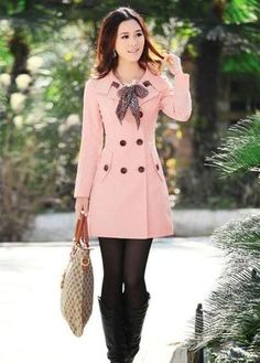Double Breasted Long Trench Coat with Scarf Outwear Gabardinas 4a8c18a5f6c4
