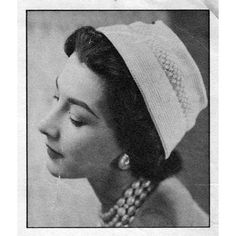 This vintage crocheted hat pattern gives us a flat top and popcorn stitched band.  It's an easy to crochet and easy to wear design.