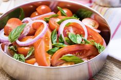 Fresh & flavorsome mixed tomato & basil salad