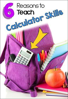 6 reasons to teach calculator skills to upper elementary students, including how calculators foster mathematical thinking. Free calculator quiz in the post! Math Strategies, Math Activities, Teaching Resources, Teaching Ideas, Classroom Resources, Math Games, Teaching Tools, Classroom Ideas, Elementary Math