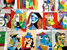 mixed media portraits by Picasso