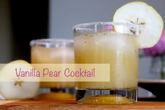Only 3 ingredients to make this delicious vanilla pear cocktail. Organic pear juice, vodka, and vanilla seeds. Shake it up & serve.