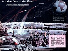 WWIII Invasion Base on The Moon - rendering by Klaus Burger