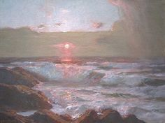 "Bror Julius Olsson. ""Sunset in Cornwall."""