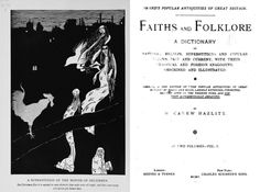 The frontispiece to Brand's <em>Faiths and folklore; a dictionary of national beliefs, superstitions and popular customs</em>, which detailed the role of the sin eater.