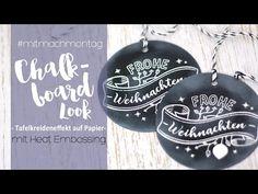 Chalkboard Look für Karten und Geschenkanhänger | danipeuss.de - YouTube