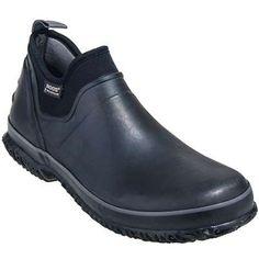 Bogs Boots: Men's 71330 Waterproof Black Urban Farmer Rubber Slip-On Boots - BOGS Footwear - Brands