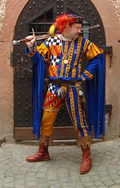 Armor Clothing, Medieval Clothing, Antique Clothing, Renaissance Costume, Medieval Costume, Historical Costume, Historical Clothing, Medieval Jester, Jester Outfit