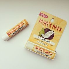 Burt's Bees Coconut + Pear Hydrating Lip Balm -- Contains one of my favorite beauty ingredients - coconut oil! ❤️