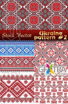 Ukrainian embroidery. Patterns #2 - Stock Vector