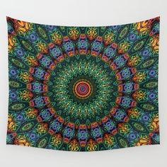 Polished Stone Mandala by Lyle Hatch #mandala #trippy #colorful #home #decor #shopping #WallArt #walldecor