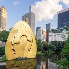 "Pendiente ""THE POND"" de Catalina D'Anglade. Cápsula inspirada en los lagos de Central Park de New York. Cata, Central Park, Collages, Pond, Earrings, Lakes, Ear Rings, Water Pond, Stud Earrings"