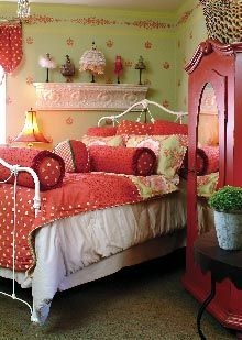 colorful bedroom cottage.                                                                                                                                                                                 More