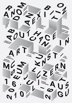 Random, poster designed by Felix Pfäffli (2010)  –  Type Only  Unit Editions