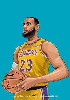 Lebron James Wallpapers, Nba Wallpapers, Nba Background, Kobe Bryan, King Lebron, Campaign Logo, Basketball Art, Vector Portrait, Book Design Layout