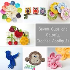 These seven cute and colorful crochet appliqué patterns will help you transform the most ordinary of projects into something with tons of personality.