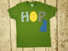 New lil threadz design posted! Easter bunny Easter egg HOP Easter shirt children's shirt chevron rabbit Boys and Girls tee customize colors prints etc infant toddler youth by lilthreadzclothing