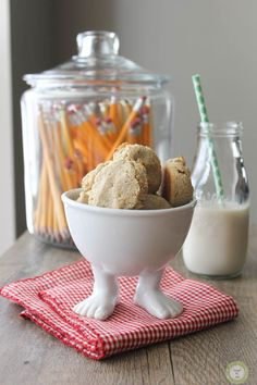 Now this is what I'm talking about! Banana Coconut Cookies by Knead to Cook in a footed bowl! Is there any other definition of happiness!?