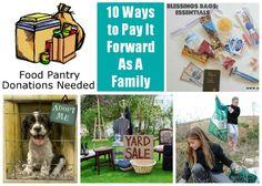 Service: 10 Ways to Pay It Forward as a Family | MomItForward.com