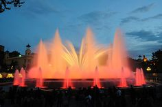 """""""Magic Fountain"""" - Barcelona, Spain. You must see this if you ever visit."""
